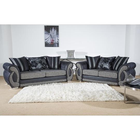 Chloe 3 Seater + 2 Seater Sofa Set Grey