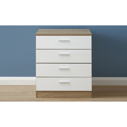 Melbourne 4 Drawer Chest White Oak Chest Of Drawers Select Furniture Isle Of Man